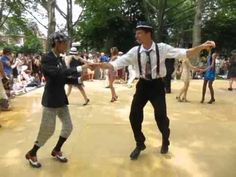 #2MenLindyHop Two Dandy Guys Swing Dancing Together at Jazz Age Lawn Party - Governor's Island 6/25/2011 - YouTube