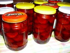 Švestky s rumem Preserves, Pickles, Kimchi, Smoothie, Salsa, Mason Jars, Recipies, Stuffed Peppers, Canning