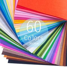 Etsy 60 Colors Felt Sheets 1mm 30x30cm Poly 19.80=.33