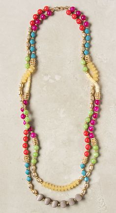 Anthropologie #Necklace #Jewelry! This is a cool way to use left over beads and then make it yourself.