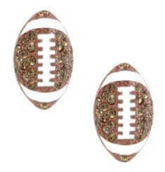 Football Crystal & Enamel Stud Post Earrings My Jewel Thief. $14.86. Great for gift giving or keeping for yourself!. Wonderful Gift!. Fun & whimsical earrings!. Stud Post Earrings. Unique jewelry piece to wear for years to come!. Great for adults, teens & kids!
