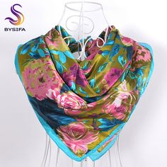 Floral Scarves 90*90cm //Item is FREE Shipping Worldwide! //     #fashion #autumn #winter #spring #trending #latest #new