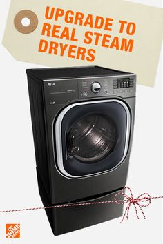 Keep your family looking pristine in their Christmas best this season. High capacity, real-steam dryers are big enough to tackle your largest loads of laundry while also using real steam to reduce wrinkles and odors. Click to shop all of the best dryers and the best prices at The Home Depot.