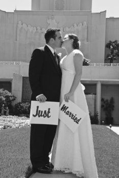 Courthouse wedding idea - gahhh, now I gotta make signs!  @Cassandra Guild Cecil - lets add this to our veil day craft lol