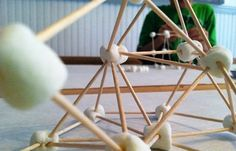Fun idea for creating toothpick and marshmallow structures by @mamascout -- great for an indoor afternoon activity!
