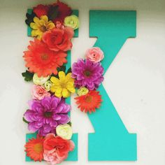 DIY Floral Letters | Fun and easy craft ideas to make great for parties or even decorations at home. #pioneersettler