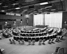 Finn Juhl's Trusteeship Council Chamber at the UN (currently under restoration)