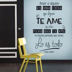 Vinilo Decorativo Amar A Alguien Es Una Cosa  #viniloscasa #vinilosdecorativos…