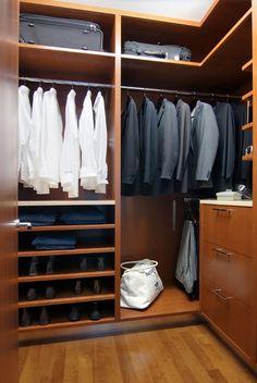 man closet