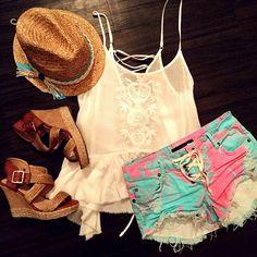 Outfit perfecto para las vacaciones en la playa. ♥♥ #Fashion