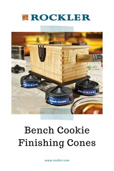 Lift your finishing project off the bench for easy access to all sides. Pointed cones will not mar your finish. Only at Rockler!  #rocklerinnovations #rocklerproducts #benchcookie #finishingcones #shopaccessories Weekend Projects, Diy Projects, Sealing Wood, Assembly Table, Concrete Crafts, How To Make Box, Stained Glass Panels, Wood Slab, Small Paintings