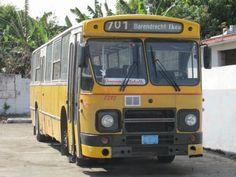 """""""Iedereen kent het straatbeeld van 15 jaar geleden nog wel met de bekende geel-witte DAF bussen. Hier rijden nu nog steeds een aantal van die bussen rond, soms zelfs nog met de oorspronkelijk bestemming (zoals Barendrecht, Rotterdam of Nijkerk) erop. Naast Nederlandse, rijden hier ook nog veel oude Italiaanse, Belgische en Russische bussen rond."""""""