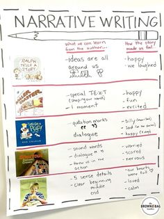 Writing Mentor Texts Great anchor chart and ideas for Narrative Writing Mentor Texts. Perfect for Writer's Workshop!Great anchor chart and ideas for Narrative Writing Mentor Texts. Perfect for Writer's Workshop!