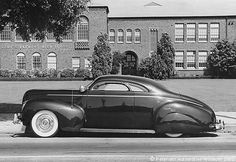 Nick's Matranga 1940 Merc outside Fremont High School