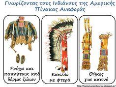 Δραστηριότητες, εποπτικό και παιδαγωγικό υλικό για το Νηπιαγωγείο: Οι Φυλές της Γης στο Νηπιαγωγείο: Ινδιάνοι της Αμερικης - 5 Πίνακες Αναφοράς