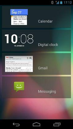 Android 4.2 lockscreen widgets.