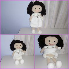 Muñeca de comunion personalizada. Mide unos 40 cm. Un rrgalo precioso!!!!