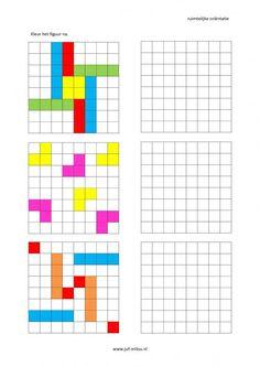 Werkbladen - ruimtelijke orientatie - nakleuren ~ Juf Milou