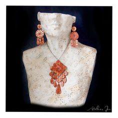 Necklace and earrings by Atelier Jenwww.atelierjen.com