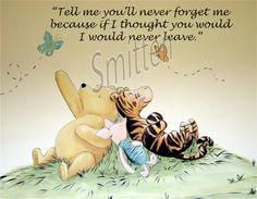Winne the Pooh Piglet & Tigger Quote Art Print by SmittensDesigns, $3.00