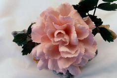Vintage 1980's Boehm Dianthus Pink Carnation by zenmonkeyshop, $150.00