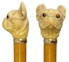 walking stick, with a carved ivory…