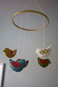 Birdie Mobile. This birdie mobile is the perfect way to decorate your home for spring!