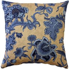 August Grove These linen pillows feature a traditional floral pattern in beautiful shades of blue on a beige background. This pillow makes a wonderful addition to either classic or contemporary Pattern spaces. Buy Pillows, Floral Throw Pillows, Velvet Pillows, Linen Pillows, Throw Pillow Sets, Designer Throw Pillows, Outdoor Throw Pillows, Decorative Throw Pillows, Pillow Talk