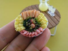 Mini-cheese and meat platter.