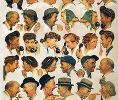 Peintures Norman Rockwell, Norman Rockwell Art, Norman Rockwell Paintings, Painting Prints, Canvas Prints, Art Prints, Oil Paintings, Watercolor Painting, Grand Art