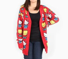 89d4579fb The Simpsons x Hello Kitty Red Cardigan - Item # JpnlaSimpCard - World's  collide as Hello