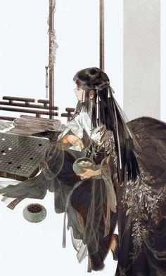 Character Illustration, Illustration Art, Anime Manga, Anime Art, Anime Kunst, China Art, Hanfu, Traditional Art, Art Girl