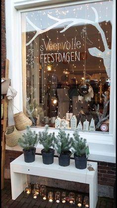 nl window drawing at Sterk&sVeer www.nl window drawing at Sterk&sVeer Christmas Windows, Christmas Window Decorations, Noel Christmas, All Things Christmas, Winter Christmas, Holiday Decor, Classy Christmas, Christmas 2017, Christmas Trends