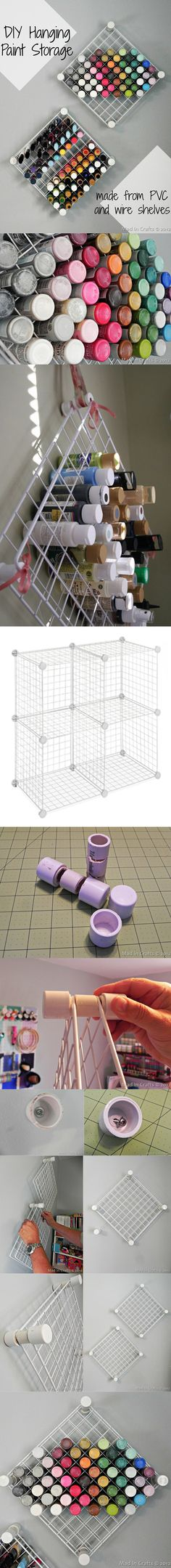 64 Ideas For Diy Organizador Labiales Paint Storage, Craft Storage, Office Deco, Craft Projects, Projects To Try, Diy Organisation, Ideas Para Organizar, Organizer, Getting Organized