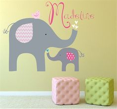 @rosenberryrooms is offering $20 OFF your purchase! Share the news and save!  Pink Elephant Love Fabric Wall Decal #rosenberryrooms