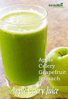 Since I have a crying baby that I need to tend to, I'm going to post my green juice from yesterday that I didn't get a chance to post. (I'll post today's smoothie after he falls asleep.)   This juice is 1 grapefruit, 5 stalks of celery, 2 green apples and 3 handfuls of spinach. What's in your blender or juicer?   If you are taking any medications, make sure you check with your doctor before drinking or eating grapefruit.