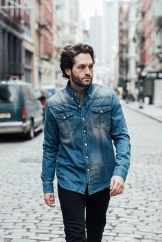 A DAY IN THE LIFE : SAXON CAMPBELL  FREDERICK MID ROAST DENIM SHIRT