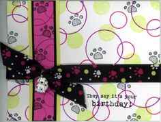 """Bow Wow, Simple Shapes & It's Your Birthday © Stampin' Up! size: 4 1/4"""" x 5 1/2"""""""