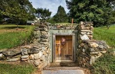 Ok, so it's a root cellar. but it's a great design idea for the entrance to an underground home