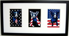 Mayb do one of these for display during election?  George Rodrigue BLUE DOG Patriotic Note Card Trio  by jazzthatwall, $69.99