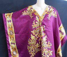 Winlar Muu Muu Caftan Patio House Dress Robe Hawaiian Print One Size S-4X  #Winlar #Robes
