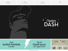 Captain Dash | http://captaindash.com/ | #webdesign #it #web #design #layout #userinterface #website #webdesign < repinned by www.BlickeDeeler.de | Take a look at www.WebsiteDesign-Hamburg.de