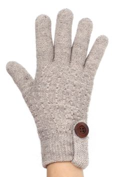 Cooly Textured Fleece Lined Gloves with button for women @ www.sunben.com - wholesale fashion accessories