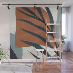 Abstract Art 35 Wall Mural by thindesign - Murales Pared Exterior Office Deco, Mural Wall Art, Bedroom Wall, My Room, Wall Design, Room Decor, Abstract Art, Walls, Vibrant Colors