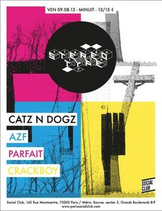 Stereotype | Social Club | Paris | https://beatguide.me/paris/event/social-club-stereotype-catz-n-dogz-crackboy-azf-parfait-20130809/poster/