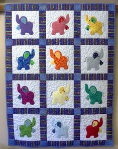 Elephant Baby Quilt Baby Blanket In Navy Blue By . Finding Best Ideas for your Building Anything Quilt Baby, Cot Quilt, Baby Quilts For Boys, Patchwork Quilt Patterns, Quilt Patterns Free, Applique Quilts, Elephant Quilts Pattern, Elephant Applique, Patchwork Ideas