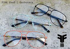 FUNK Food Eyewear | Carbonara  #FUNKfoodeyewear #FUNKFood #Eyewear #eyeweardesign #glasses #fashion #sunglasses  #FUNKeyewear #alwaysfresh #wefeedyourface #Carbonara #Brille #Aviator #Pilotenbrille #StainlessSteel