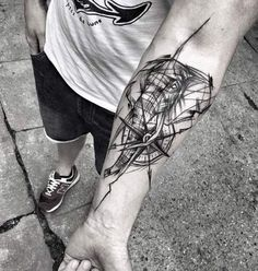 Sketched compass and elephant tattoo by Inez Janiak