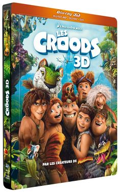 LES CROODS [Combo Blu-ray 3D + Blu-ray + DVD - Édition boîtier SteelBook] NEUF SOUS BLISTER (-20%) 23,41€