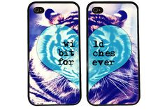 BFF Case / Tiger iPhone 4 Case Best Friends iPhone 5 by KasiaKases